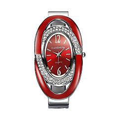 preiswerte Damenuhren-Damen Armband-Uhr Simulierter Diamant Uhr Quartz 30 m Imitation Diamant Legierung Band Analog Glanz Armreif Modisch Schwarz / Silber / Rot - Weiß Schwarz Rot