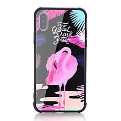 Недорогие Кейсы для iPhone X-Кейс для Назначение Apple iPhone X iPhone 8 Защита от удара С узором Кейс на заднюю панель Слова / выражения Фламинго Твердый Закаленное