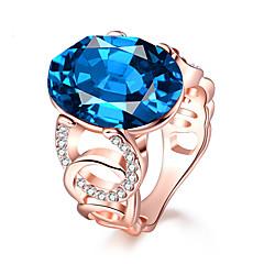 Χαμηλού Κόστους Δαχτυλίδια-Γυναικεία Εντυπωσιακά Δαχτυλίδια Συνθετικό ζαφείρι Επίσημο Ευρωπαϊκό Μοντέρνα Χαλκός Γυαλί Geometric Shape Κοσμήματα Πάρτι