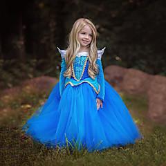 voordelige Halloween cosplay-Prinses Cinderella Sprookje Jurken Kinderen Kerstmis Maskerade Verjaardag Festival / Feestdagen Halloweenkostuums Blauw Roze Kleurenblok