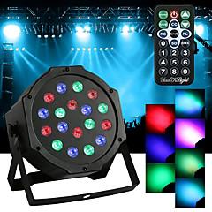 tanie Oświetlenie wewnętrzne-youoklight 18w led par światła rgb magiczny efekt światła scenicznego pilot dmx512 ac100-240v