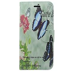 Недорогие Кейсы для iPhone-Кейс для Назначение Apple iPhone X iPhone 8 Бумажник для карт Кошелек со стендом Флип Чехол Бабочка Цветы Твердый Кожа PU для iPhone X