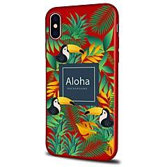 Недорогие Кейсы для iPhone 7-Кейс для Назначение Apple iPhone X iPhone 8 Plus С узором Кейс на заднюю панель Пейзаж Животное Мягкий ТПУ для iPhone X iPhone 8 Pluss