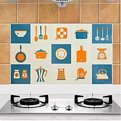 Høj kvalitet Køkken Olie resistente klistermærker,Aluminium 45*75