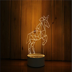 olcso LED izzó újdonságok-1set 3D éjszakai fény DC táplálás USB által Tompítható Színváltós