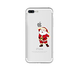 お買い得  iPhone 5S/SE ケース-ケース 用途 Apple iPhone 8 iPhone 8 Plus 耐衝撃 半透明 パターン バックカバー Appleロゴアイデアデザイン クリスマス ソフト TPU のために iPhone 8 Plus iPhone 8 iPhone 7 Plus iPhone 7