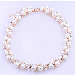 Kadın's Strand Bilezikler İmitasyon İnci Yapay Elmas Klasik Moda İmitasyon İnci Simüle Elmas alaşım Top Mücevher Günlük