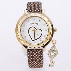 preiswerte Armbanduhren für Paare-Damen Paar Armbanduhr Quartz Armbanduhren für den Alltag Cool Legierung Band Analog Luxus Freizeit Modisch Silber / Gold / Rotgold - Kaffee Rot Blau