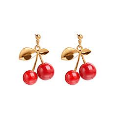 abordables Bijoux pour Femme-Femme Boucles d'oreille goutte - Résine Cerise, Fruit Mode Or Pour Casual Quotidien