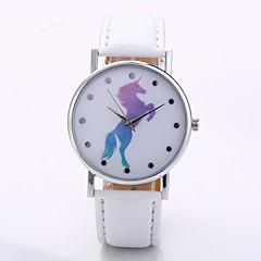 halpa Naisten kellot-Miesten Naisten Quartz Rannekello Kiina N / A PU Bändi Vapaa-aika minimalistinen Musta  Valkoinen Sininen  Punainen  Oranssi Vihreä