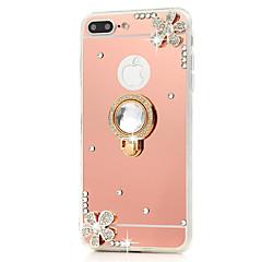 Недорогие Кейсы для iPhone 7-Кейс для Назначение iPhone 7 Plus IPhone 7 Apple iPhone 8 Plus iPhone 7 Plus Стразы со стендом Кольца-держатели Зеркальная поверхность
