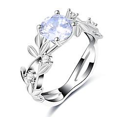 preiswerte Ringe-Damen Synthetischer Diamant Bandring - Kupfer, Glas Europäisch, Modisch 7 / 8 / 9 Silber Für Hochzeit / Party