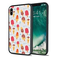Недорогие Кейсы для iPhone 5-Кейс для Назначение Apple iPhone X iPhone 8 Plus С узором Кейс на заднюю панель Плитка Продукты питания Мягкий ТПУ для iPhone X iPhone 8