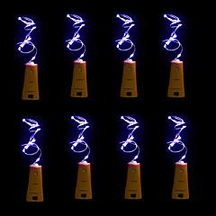 billiga LED-ljusslingor-BRELONG® Ljusslingor 20 lysdioder Varmvit Vit Lila Grön Blå <5V