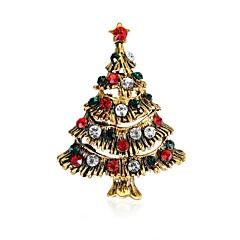 olcso Brossok-Női Melltűk Kocka cirkónia Fémes Klasszikus Édes Cirkonium Ötvözet Az élet fája Ékszerek Kompatibilitás Karácsony Napi