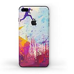 billige iPhone-klistermærker-1 stk Hud Klistermærke for Ridsnings-Sikker Mat Mønster PVC iPhone 7 Plus