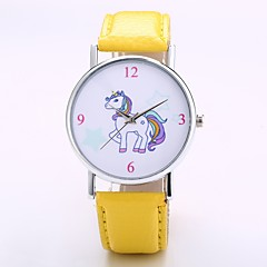 preiswerte Tolle Angebote auf Uhren-Herrn / Damen Armbanduhr Chinesisch N / A PU Band Freizeit / Modisch / Elegant Schwarz / Orange / Grün / Jinli 377