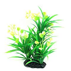 お買い得  アクアリウムデコレーション-アクアリウムの装飾 水草 植物 飾り デコレーション 人工 無毒&無味 プラスチック プラスチック+ PCB +耐水エポキシカバー 有機プラスチック