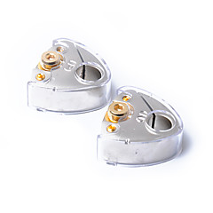 Недорогие Аудио для автомобиля-1 пара покрыта матовая никель автомобильная клемма аккумулятора положительный отрицательный полюс с крышкой