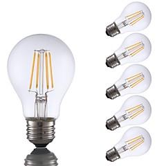 preiswerte LED-Birnen-GMY® 6pcs 4W 350lm E26 LED Glühlampen A60(A19) 4 LED-Perlen COB Abblendbar LED-Lampe Warmes Weiß 110-130V
