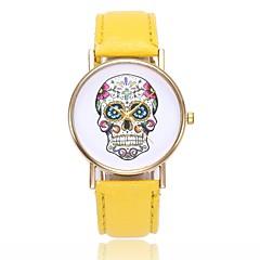 preiswerte Tolle Angebote auf Uhren-Damen Armbanduhr Chinesisch Armbanduhren für den Alltag / Totenkopf PU Band Freizeit / Totenkopf / Einzigartige kreative Uhr Schwarz / Weiß / Blau / Ein Jahr / Jinli 377