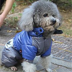 Χαμηλού Κόστους Ρούχα και αξεσουάρ για σκύλους-Γάτα Σκύλος Παλτά Φούτερ με Κουκούλα Αδιάβροχο Πάλτο Φόρμες Ρούχα για σκύλους Καθημερινά Αδιάβροχη Διατηρείτε Ζεστό Αθλήματα Στάμπα