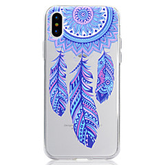 tanie Etui do iPhone 5-Kılıf Na Apple iPhone X iPhone 8 Etui iPhone 5 iPhone 6 iPhone 7 Wzór Czarne etui Łapacz snów Miękkie TPU na iPhone X iPhone 8 Plus