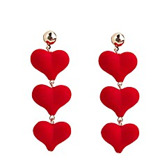 preiswerte Ohrringe-Damen Lang Tropfen-Ohrringe - Herz Europäisch, Süß, Modisch Schwarz / Rot Für Party