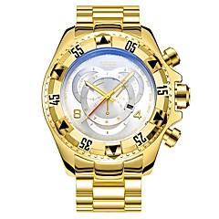 preiswerte Herrenuhren-Herrn Modeuhr Japanisch Armbanduhren für den Alltag Legierung Band Freizeit Schwarz / Silber / Gold