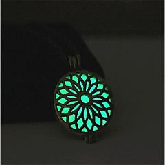 abordables Joyería Luminosa-Mujer Collares con colgantes - Flor Moda, Luminoso Azul Claro, Verde claro Gargantillas 1 Para Calle, Bar
