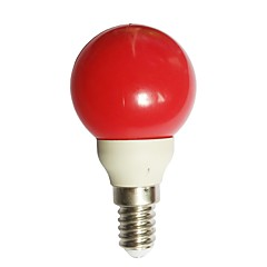 0.5W E14 LED Globe Bulbs G45 7 Dip LED 15-25 lm Red 0000 K AC100-240 V