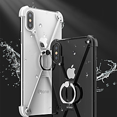 halpa iPhone 7 Plus kotelot-Etui Käyttötarkoitus Apple iPhone X iPhone 8 Iskunkestävä Tuella Sormuksen pidike Bumper Yhtenäinen väri Kova Metalli varten iPhone X