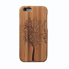 Недорогие Кейсы для iPhone 6-Кейс для Назначение iPhone 6s iPhone 6 Apple iPhone 6 Защита от удара Кейс на заднюю панель дерево Твердый Бамбук для iPhone 6s iPhone 6