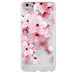 tanie Etui do iPhone 6s-Kılıf Na Apple iPhone 8 iPhone 8 Plus iPhone 6 iPhone 6 Plus iPhone 7 Plus iPhone 7 Wzór Wytłaczany wzór Czarne etui Kwiaty Rysunek