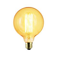 preiswerte LED-Birnen-1pc 40 W E26 / E27 / E27 G125 Warmes Weiß Glühbirne Vintage Edison Glühbirne 220-240 V / 110-130 V