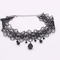 お買い得  ネックレス-女性用 チョーカー - ジルコン, レース シンプル, ファッション ブラック ネックレス 1 用途 日常