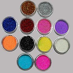 36pcs sekoittaa värejä pieni herkkä Nail Art glitter jauhetta kynsikoristeet Folionauha jauhe arylic aine kynsien koristeet
