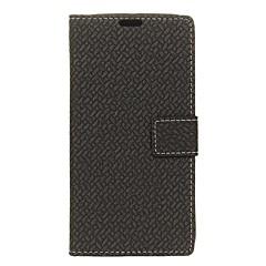 Недорогие Чехлы и кейсы для Sony-Кейс для Назначение Sony Xperia XZ Premium Xperia XZ1 Бумажник для карт Кошелек с окошком Флип Чехол Сплошной цвет Твердый Кожа PU для