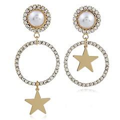 preiswerte Ohrringe-Damen Nicht übereinstimmend Tropfen-Ohrringe - Künstliche Perle, Diamantimitate Stern Klassisch, Modisch Gold Für Alltag