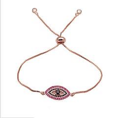 preiswerte Armbänder-Damen Diamant Ketten- & Glieder-Armbänder - Zirkon Armbänder Schwarz / Silber / Rotgold Für Geschenk Alltag