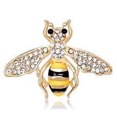 abordables Broches-Hombre Mujer Broche Cristal Animales Encantador Diamante Sintético Legierung Abeja Joyas Para Diario