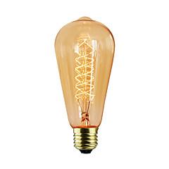 baratos LED & Iluminação-E27 fio st64 em torno de 40w 220v-240v edison lâmpadas decorativas retro