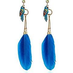 preiswerte Ohrringe-Damen Tropfen-Ohrringe - Diamantimitate Parrot Klassisch, Modisch Fuchsia / Blau Für Alltag