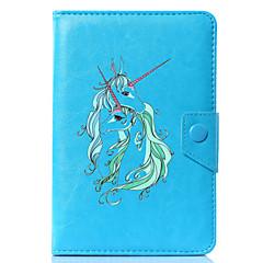 preiswerte Tablet-Hüllen-Hülle Für Ganzkörper-Gehäuse Tablet-Hüllen Einhorn Cartoon Design Hart PU-Leder für