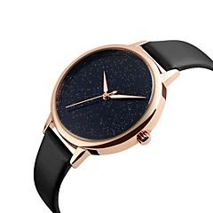 preiswerte Damenuhren-SKMEI Damen Quartz Sportuhr Chinesisch Kalender Wasserdicht Armbanduhren für den Alltag Echtes Leder Band Luxus Freizeit Modisch Cool