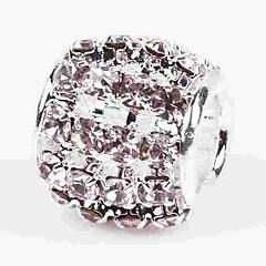 billige Perler- og smykkedesign-DIY Smykker 1 Stk. Perler Krystal Legering Hvid Cylinder bead 0.5 cm gør det selv Halskæder Armbånd