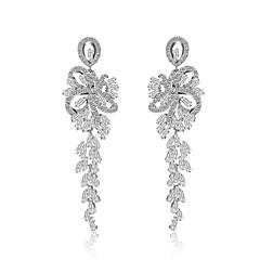 preiswerte Ohrringe-Damen Kubikzirkonia Geometrisch Tropfen-Ohrringe - Zirkon Grundlegend Silber Für Party / Formal