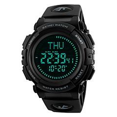 preiswerte Digitaluhren-SKMEI Herrn digital Sportuhr Chinesisch Kalender Wasserdicht Armbanduhren für den Alltag Nachts leuchtend Stopuhr PU Band Luxus Freizeit