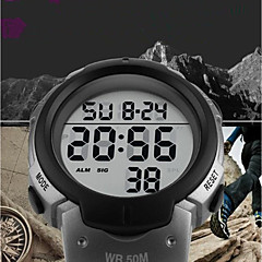 cheap Watch Deals-SKMEI Men's Digital Sport Watch Chinese Calendar / date / day Water Resistant / Water Proof Casual Watch Noctilucent Stopwatch PU Band