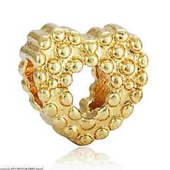 お買い得  ビーズ&ジュエリー製作-DIYジュエリー 1 個 ビーズ 合金 ゴールド シルバー ハート ビーズ 0.2 cm DIY ネックレス ブレスレット